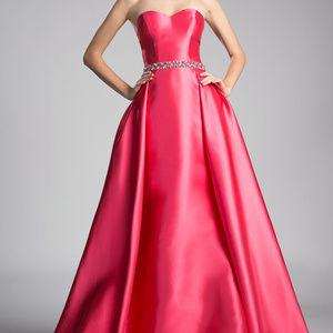 Sweetheart Neck Strapless Long Prom Dress CD455